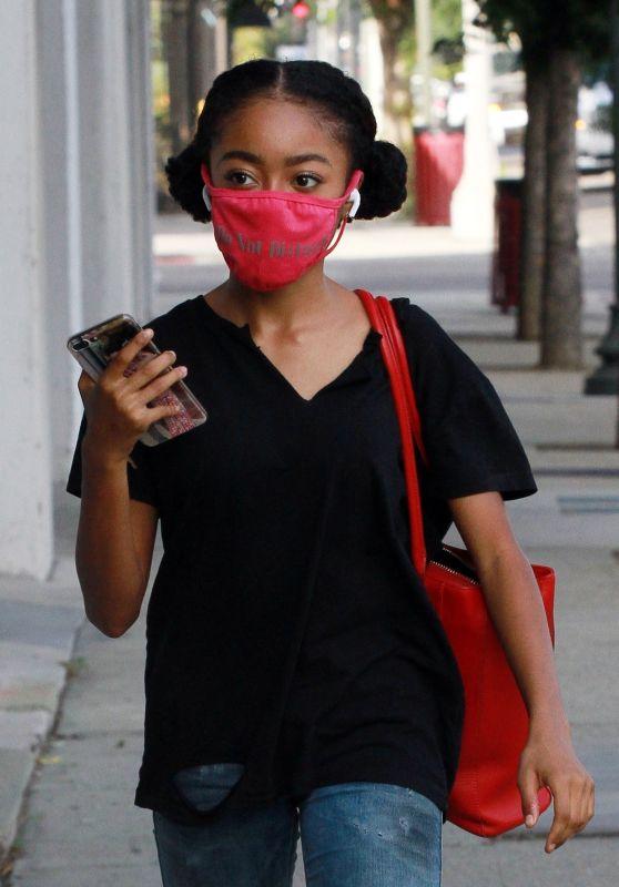 Skai Jackson Street Style - Los Angeles 11/06/2020
