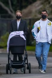 Sophie Turner - Walking Her Baby in Los Angeles 11/13/2020