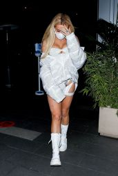 Tana Mongeau at BOA Steakhouse in West Hollywood 11/14/2020