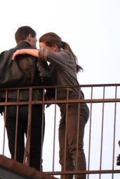 """Tom Cruise and Rebecca Ferguson - Filming a Scene for """"Mission Impossible 7"""" in Venice 11/10/2020"""