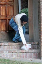 Vanessa Hudgens Picking Up a Food Delivery - LA 11/18/2020