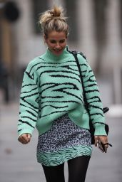 Vogue Williams in Print Top and Skirt - London 11/29/2020