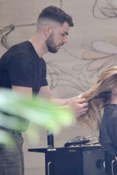 Abbie Chatfield at Hairdresser in Brisbane 12/15/2020