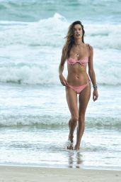 Alessandra Ambrosio in a Pink Bikini - Beach in Florianopolis 12/20/2020