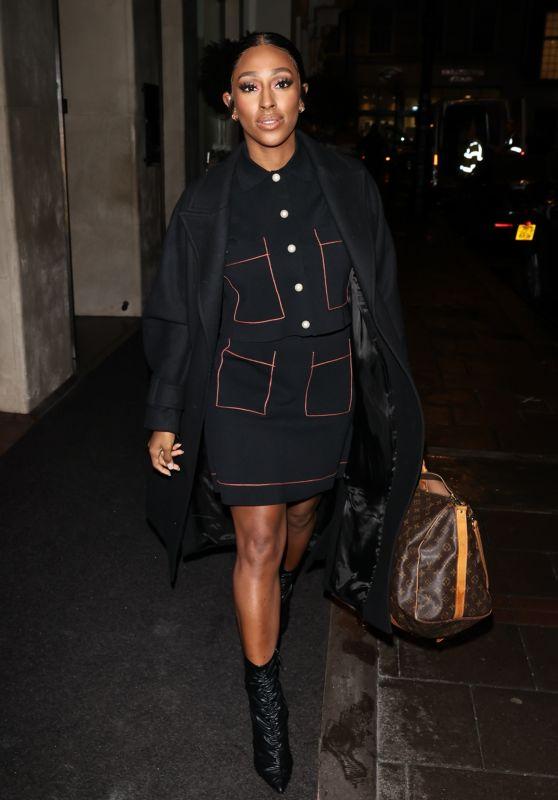 Alexandra Burke Night Out Style - London 12/18/2020