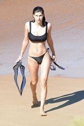 Alexandra Daddario in a Black Bikini 12/01/2020