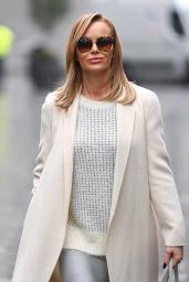 Amanda Holden in White Coat and Silver Skirt 12/04/2020