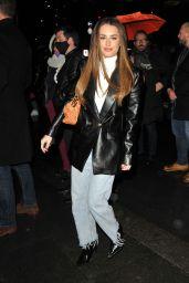 "Amber Davies – ""A Christmas Carol"" Press Night in London"