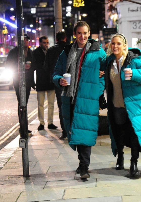 Amelia Mist and Her Boyfriend Tom Whitehouse on Christmas Eve in London 12/24/2020