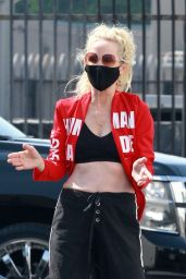 Anne Heche at the DWTS Studio in LA 10/04/2020