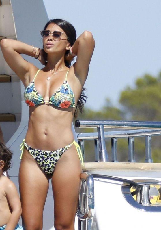 Antonella Roccuzzo and Lionel Messi on Board a Mega Yacht in Ibiza, Summer 2020
