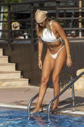 Arabella Chi in a White Bikini - Dubai 12/03/2020