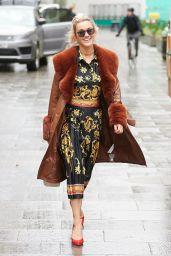 Ashley Roberts in Print Dress in London 12/18/2020
