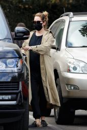 Ashley Tisdale in a Trench Coat at The Coffee Bean & Tea Leaf in Los Feliz 12/17/2020