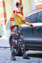 Bella Hadid in a Vintage Playboy Pants - NYC 12/23/2020