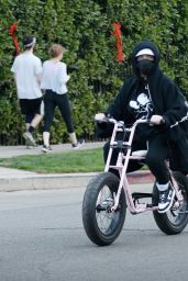 Billie Eilish - Out for a Bike Ride in Los Angeles 12/21/2020