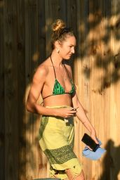 Candice Swanepoel in a Bikini Top - Miami 12/15/2020