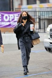 Cara Santana in All Black Outfit - West Hollywood 12/11/2020