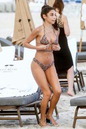 Chantel Jeffries in a Snakeskin Print Bikini - Miami 12/07/2020