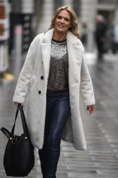 Charlotte Hawkins - Arriving at Global Studios Classical FM in London 12/22/2020