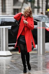 Charlotte Hawkins in Leather Mini Skirt and Thigh High Boots - London 12/18/2020
