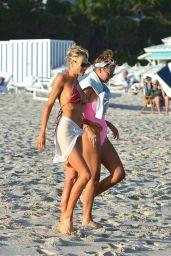 Charlotte McKinney in a PrettyLittleThing Bikini on Miami Beach 12/22/2020