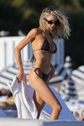 Charlotte Mckinney on the Beach in Miami 12/21/2020