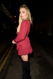 Chloe Crowhurst in a Red Dress - Leeds 12/15/2020
