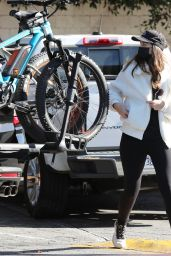 Christina Schwarzenegger - Bike Riding in Brentwood 12/18/2020