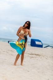 Claudia Romani on South Beach in Miami 12/16/2020
