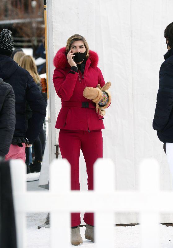 Delfina Blaquier at a Polo Match in Aspen 12/20/2020