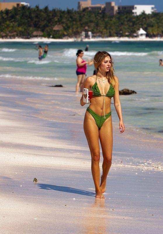 Delilah Belle Hamlin on the Beach in Tulum 11/23/2020