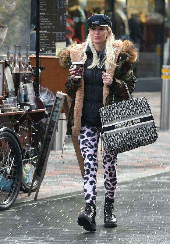 Denise Van Outen - Christmas Shopping in Chelmsford, Essex 12/19/2020