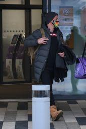 Denise Van Outen - Leaving Last Dancing on Ice Rehearsals Before Christmas in London 12/11/2020