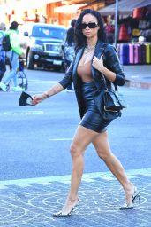 Draya Michele Leggy in a Miniskirt - LA 12/04/2020