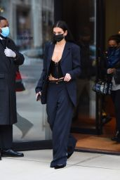 Dua Lipa in a Tailored Black Outfit - NYC 12/09/2020