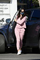 Eiza Gonzalez in a Pink Sweatsuit - Los Angeles 12/05/2020