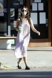 Eiza Gonzalez in Flowing Sundress - Out in West Hollywood 12/17/2020