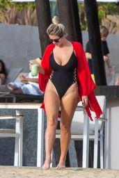 Elena Samodanova in a Black Swimsuit in Cabo San Lucas 12/21/2020