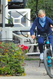 Ellen DeGeneres - Rides an E-Bike in Santa Barbara 12/27/2020