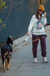 Emily Ratajkowski - Walking Her Dog in LA 12/14/2020