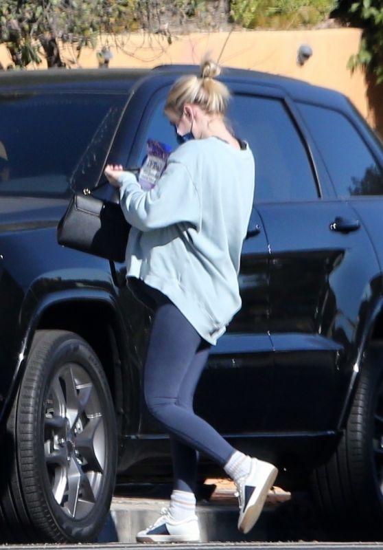 Emma Roberts - Arriving Back Home in Los Feliz 12/19/2020