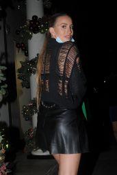 Ferne McCann - Bagatelle Restaurant in London 12/12/2020