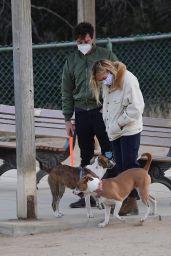 Florence Pugh at Dog Park in LA 12/14/2020