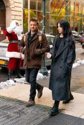 "Hailee Steinfeld and Jeremy Renner - ""Hawkeye"" Movie Set in NYC 12/06/2020"