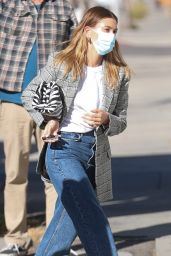 Hailey Rhode Bieber Street Style - Arrives at a Film Set in West Hollywood 12/15/2020