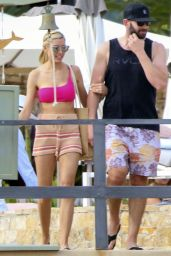 Heather Rae Young in One Shoulder Swimsuit and Knitted Shorts - Mexico 12/20/2020