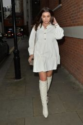 Imogen Thomas - Leaving Zuma Restaurant in London 12/12/2020