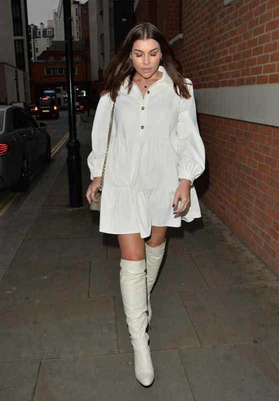 Imogen Thomas - Leaving Zuma Restaurant in London 12/12/2020