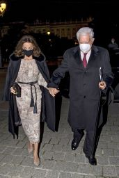 Isabel Preysler at the Royal Theatre in Madrid 12/19/2020